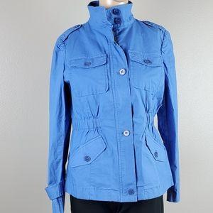 NWT Talbots Blue Utility Jacket Coat
